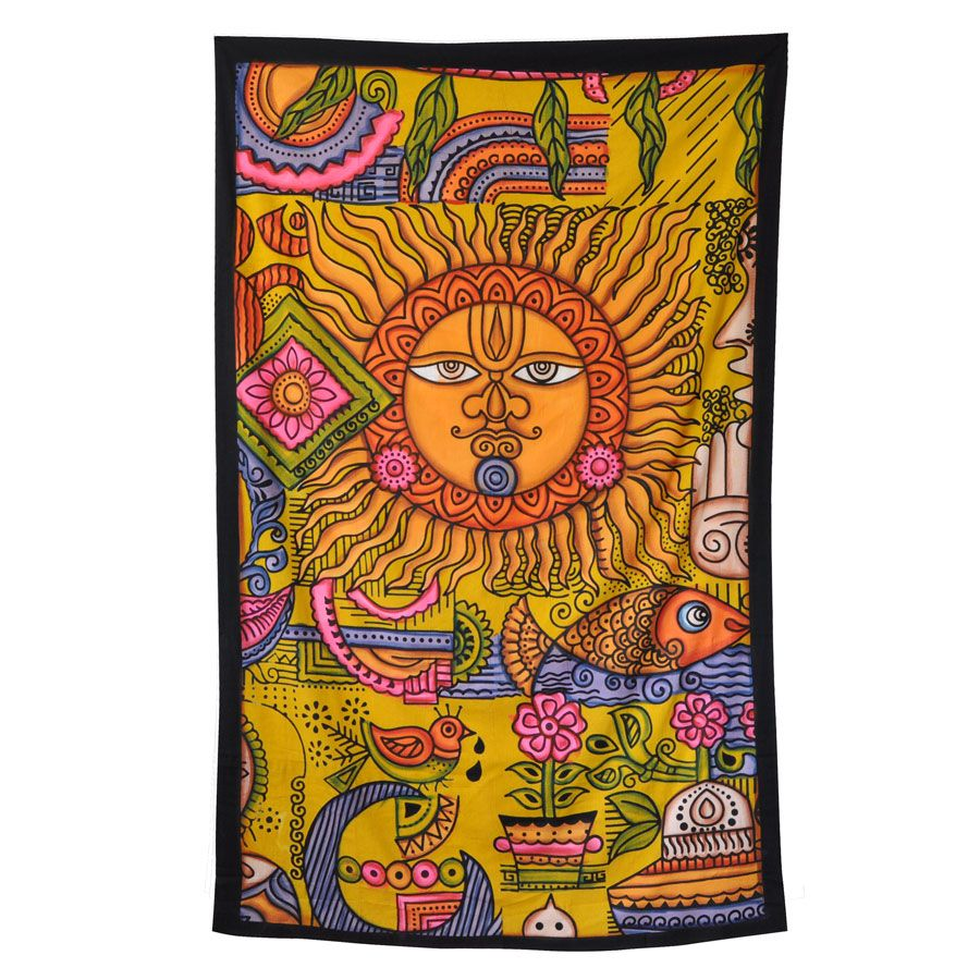 af0e21b1a478 $30 Sun Ohm Collage Tapestry | Mexicali Gift Ideas | Tapestry, Wall ...
