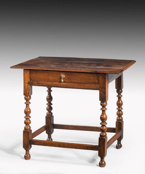 OnlineGalleries.com - William III Period Oak Side Table on Well ...