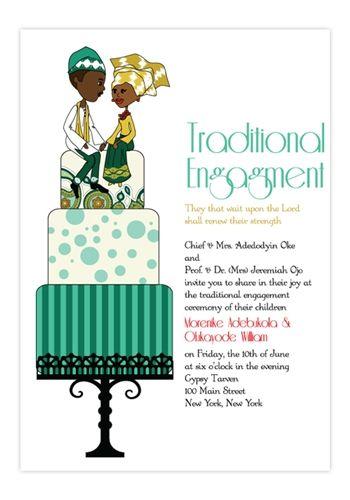 oruka nigerian yoruba traditional wedding invitation mariages. Black Bedroom Furniture Sets. Home Design Ideas