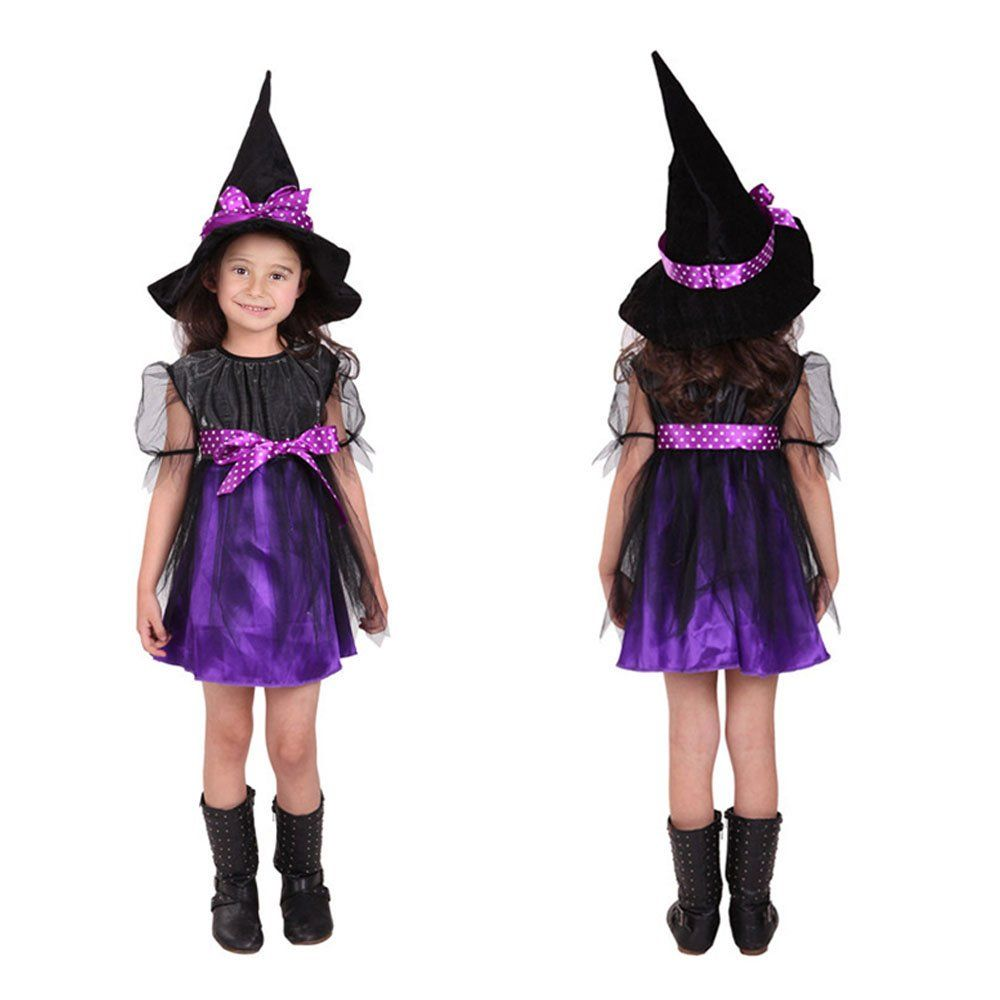 HANMUN Girls Witch Costume Halloween Party Dress Toddler