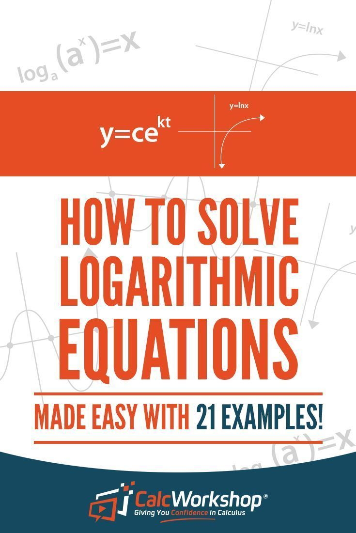 How to solve logarithmic equations 12 video examples