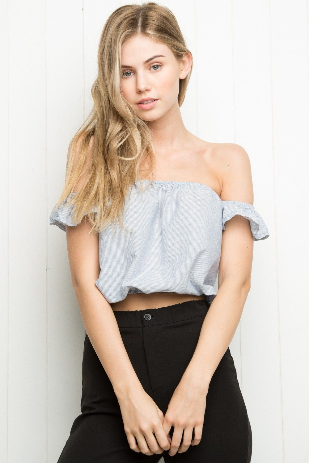 a431a619 Brandy ♥ Melville | Beccah Top - Off-the-shoulder - Clothing ...