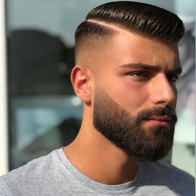 25 Neue Moderne Mannliche Frisuren Getrennt In 2020 Bart Stile Herren Frisuren Scheitel Manner Frisur Kurz