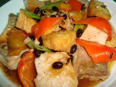Fish And Tofu With Tausi Recipe Panlasang Pinoy Recipes Seafood Recipes Recipes Fish Tofu Recipe