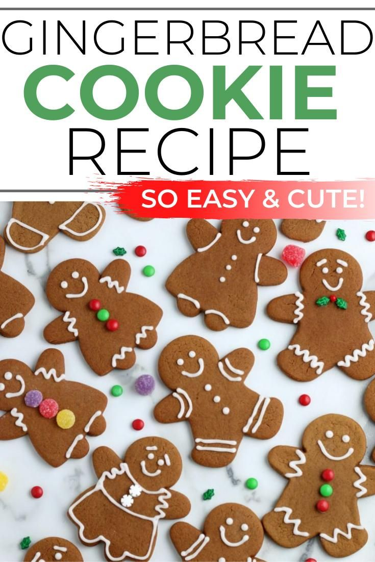 Adorable Homemade Gingerbread Man Cookies -   16 gingerbread cookies decorated simple ideas