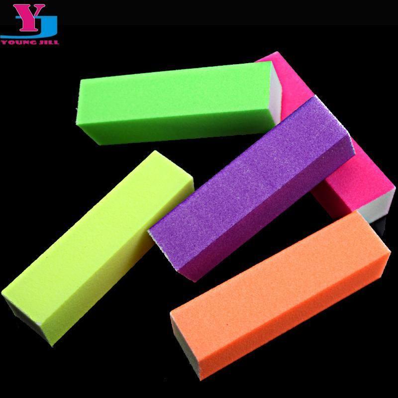 Buy 5pcs/lot Hot Nail Buffer Block Neon Color Buffing Sanding Buffer ...