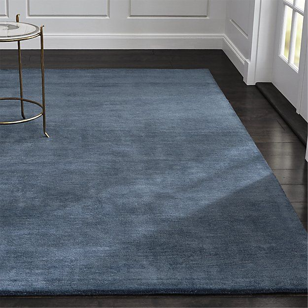 Baxter Blue Wool Rug Crate And Barrel Crate And Barrel Rugs Blue Wool Rugs Wool Area Rugs