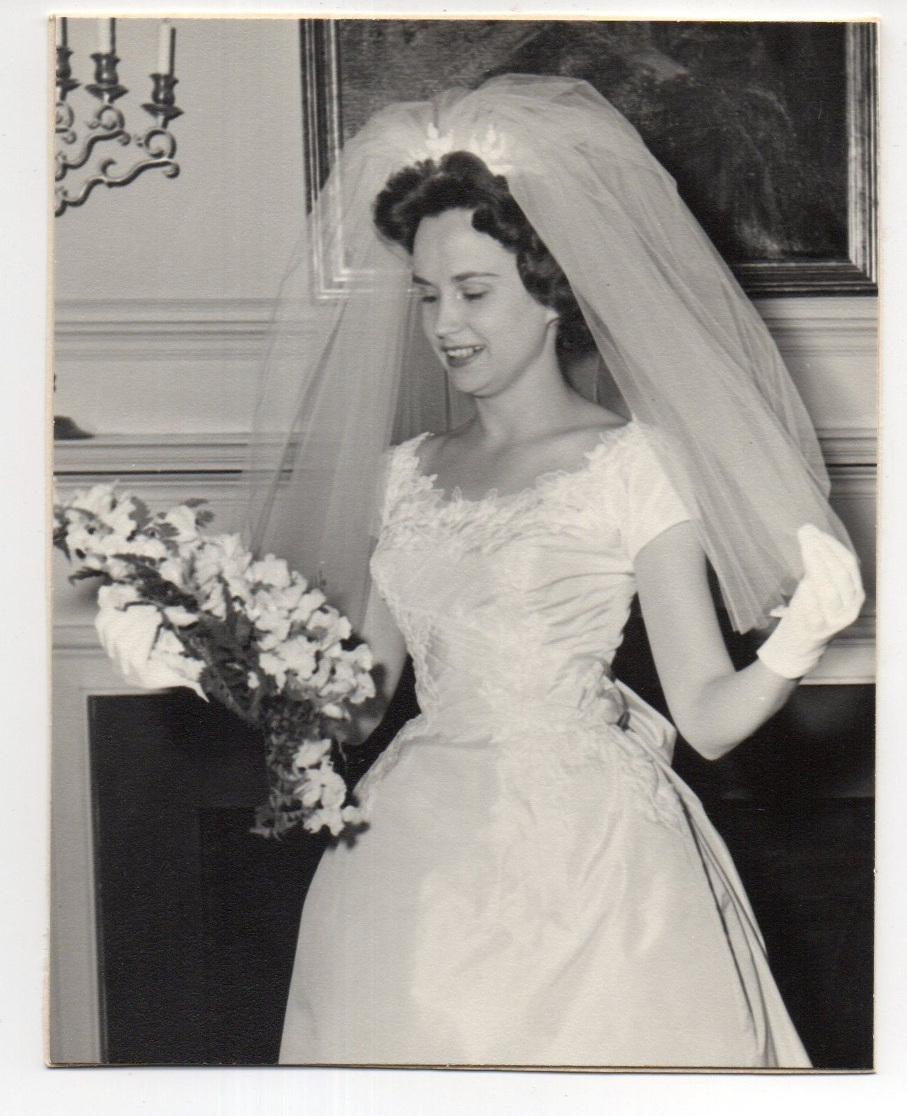 Vintage photo pretty bride wedding portrait 1960 39 s nov Wedding dress 1960