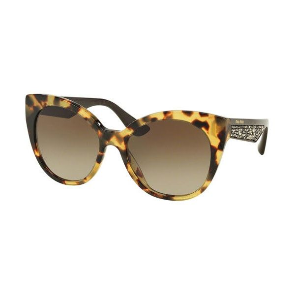 26ca367e1d3 Miu Miu MU07RS 7S01X1 Sunglasses ( 190) ❤ liked on Polyvore featuring  accessories