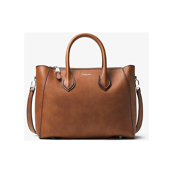 3f7b339f5813 Michael Kors Collection Helena Large French Calf Leather Satchel ( 632) ❤  liked on Polyvore featuring bags