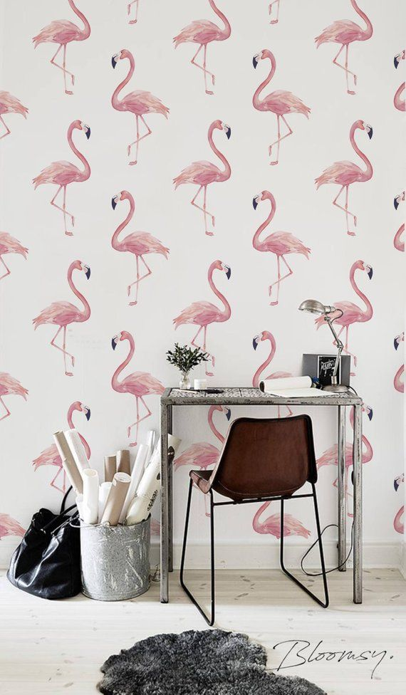 Removable Wallpaper Flamingo Simple L And Stick Temporary W