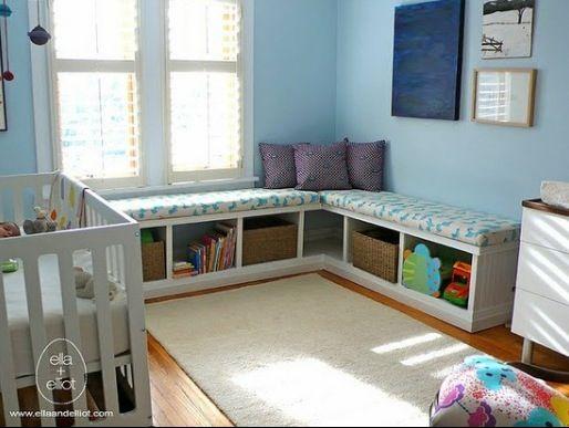Ikea Expedit Shelf Made Into A Window Bench Nursery Pinterest