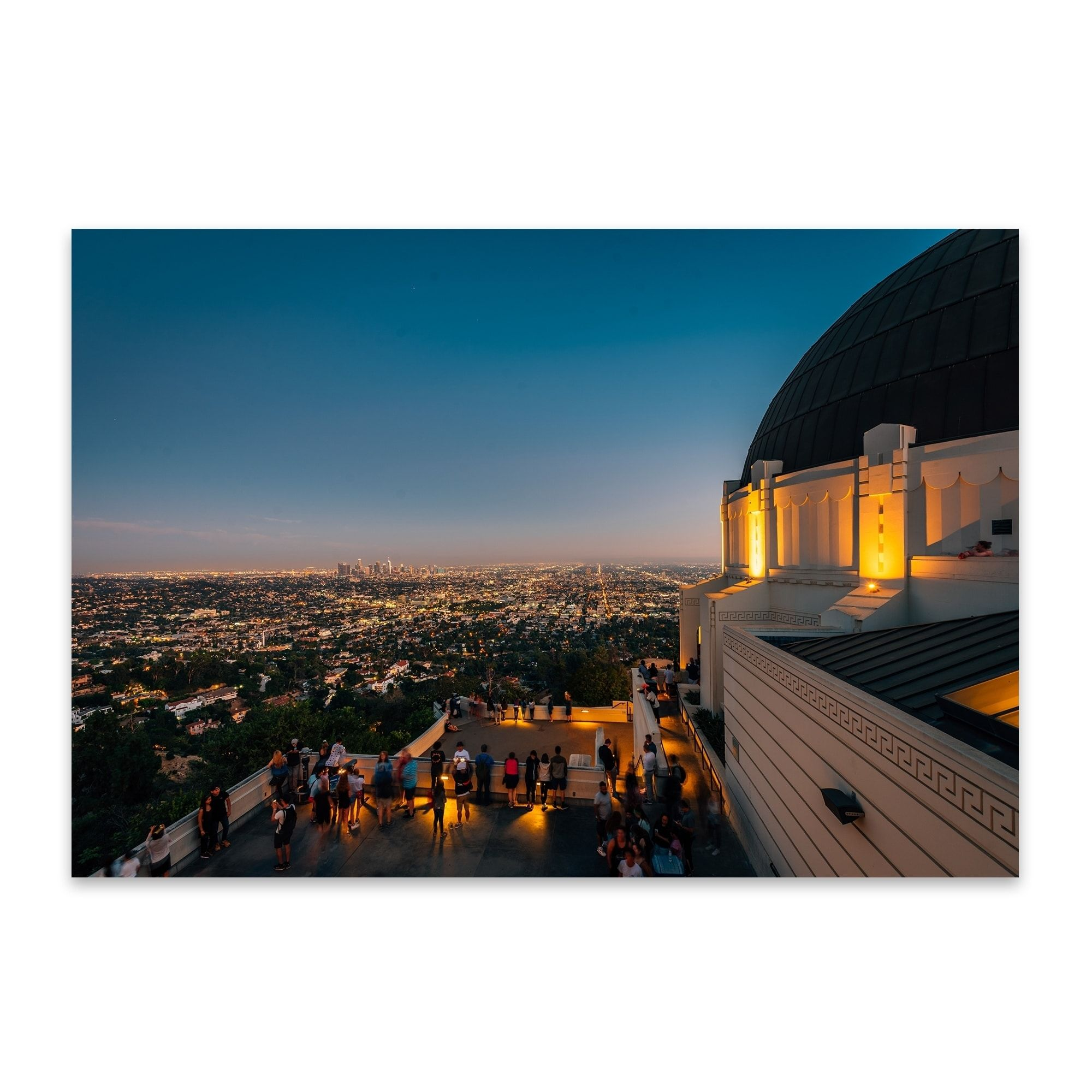 Noir Gallery Los Angeles Griffith Observatory Metal Wall Art