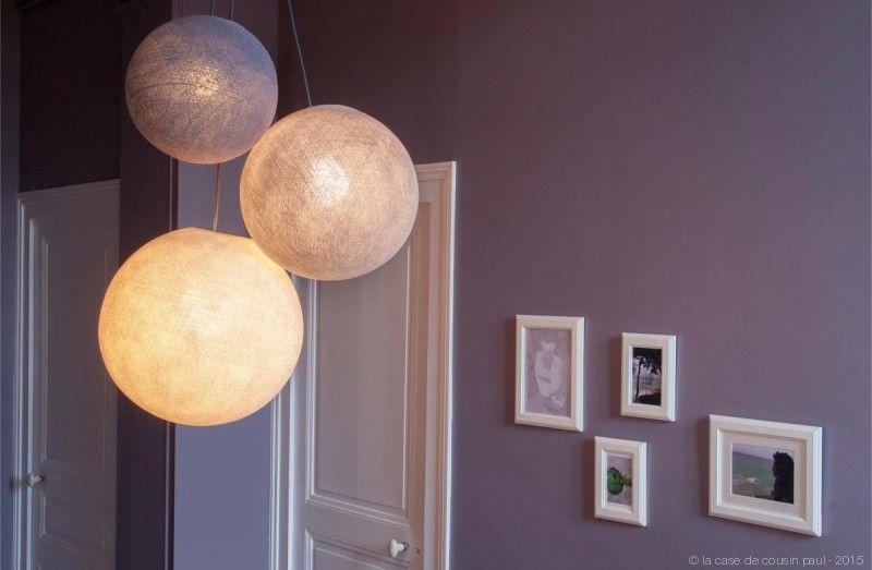 Lampadari a sfera la case de cousin paul illuminazione
