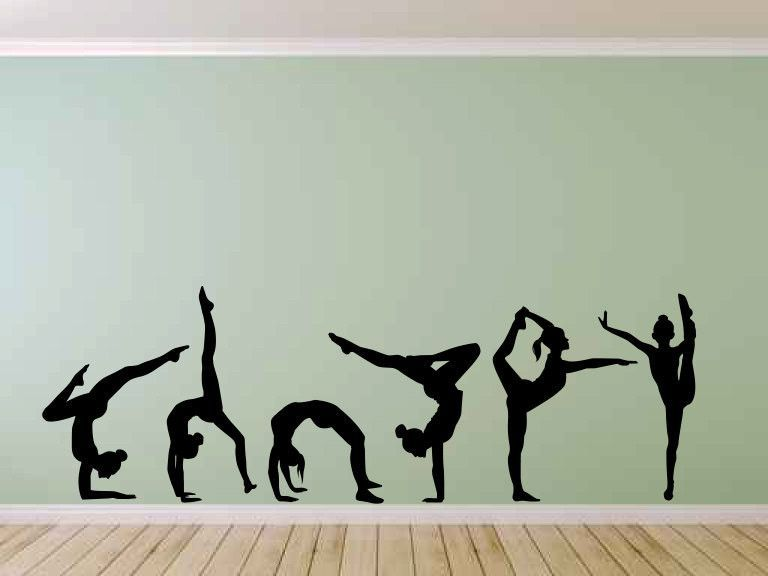 Gymnast Gymnastics Vinyl Wall Decal Sticker Graphic Large Vinyls - Custom vinyl wall decals large   how to remove