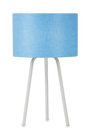 Blue Tripod Table Lamp With Cool Touch Bulb