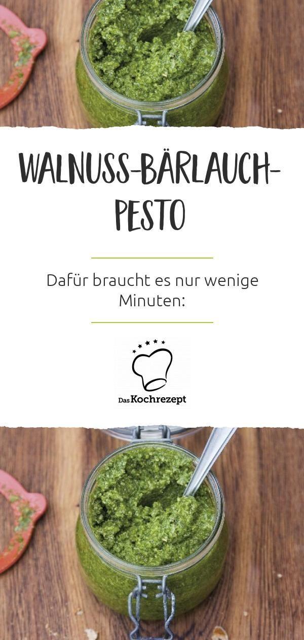 Walnuss-Bärlauch-Pesto