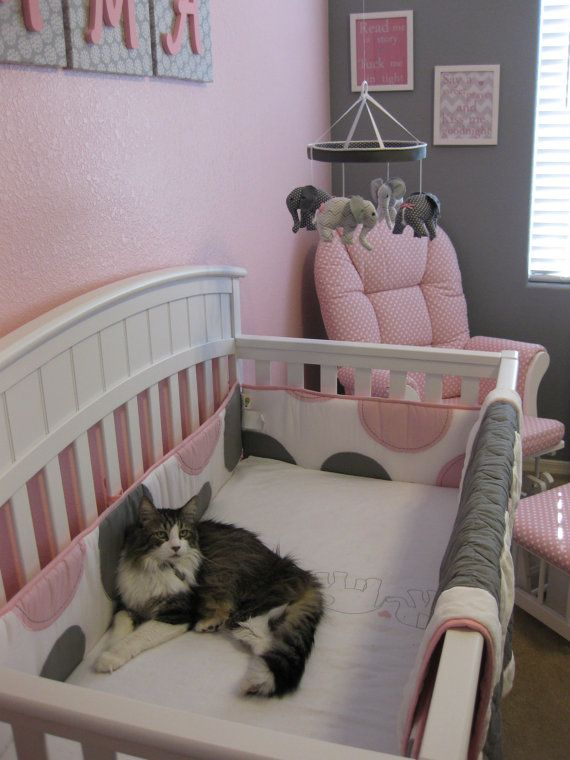 Grey Pink Baby Elephant Crib Mobile So Cute Pink And