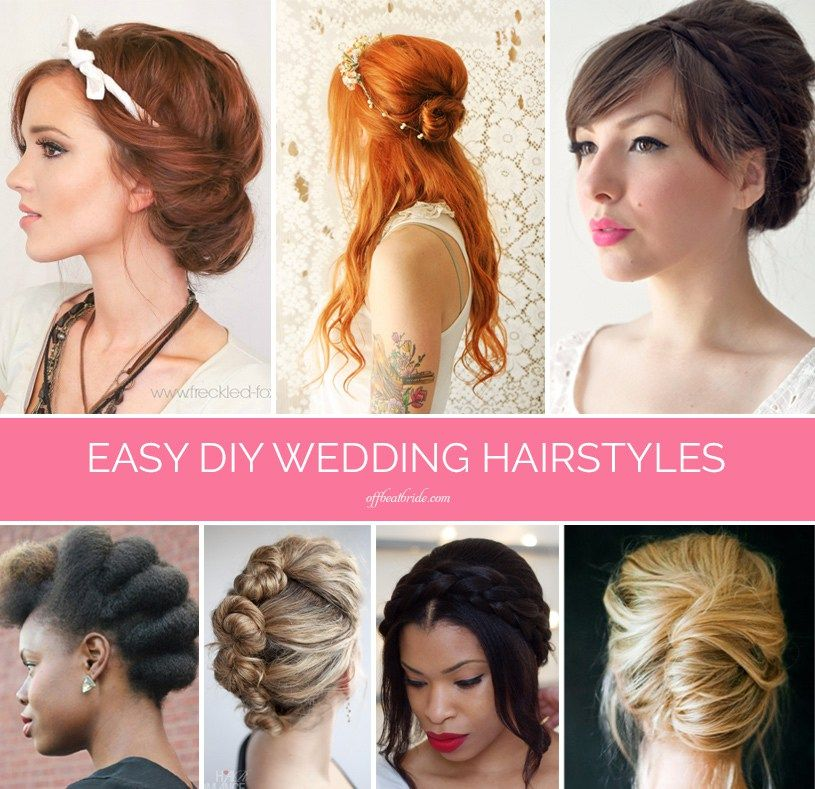Quirky Wedding Hairstyle: Braids, Twists, And Buns: 20 Easy DIY Wedding Hairstyles