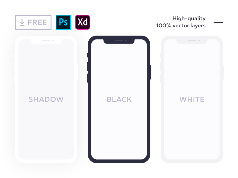 Download Free Flat Mockup For Iphone X Iphone Mockup Iphone Mockup Psd Free Mockup