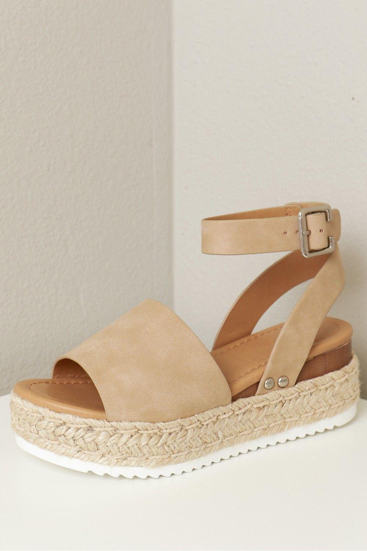 White Bottom Woven Sandal Taupe | Woven