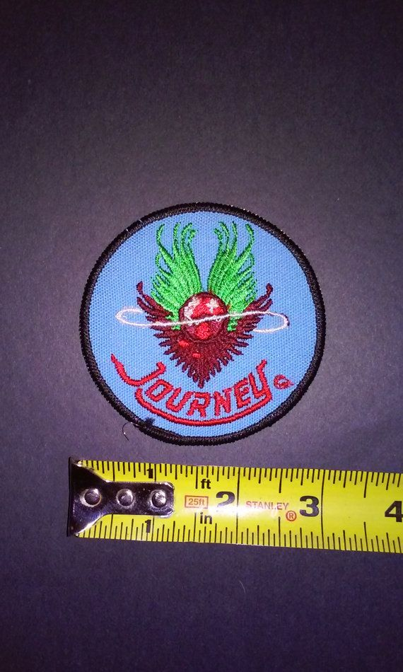 1980 journey original vintage embroidered patch by lostmemorabilia unused stock hotline posters