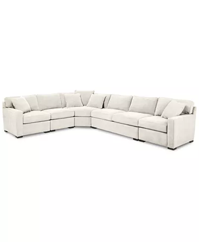 Furniture Radley 5 Piece Fabric Sectional Sofa With Apartment Sofa Created For Macy S Reviews Furniture Macy S Fabric Sectional Sofas Sectional Sofa White Sectional Sofa