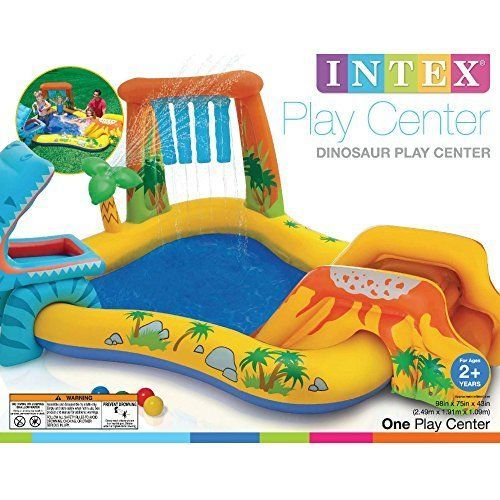Inflatable Pool Slide Intex intex inflatable kiddie pools dinosaur pool kids water slides
