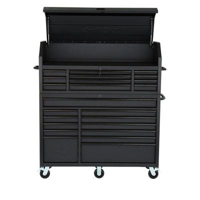 Husky 27 In Clear View 8 Drawer Tool Chest And Cabinet Set Htbx8 The Home Depot Tool Chest Tool Storage The Home Depot