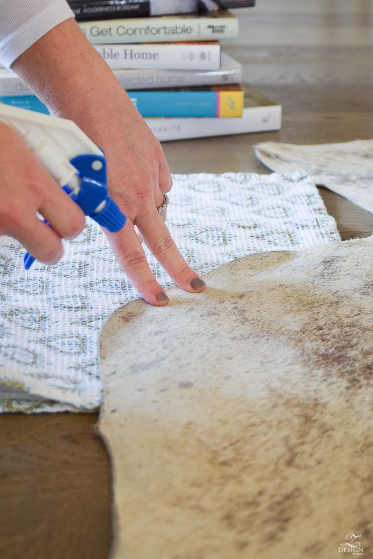 How To Get The Curl Out Of A Cowhide Rug Cow Hide Rug Cowhide Rugs