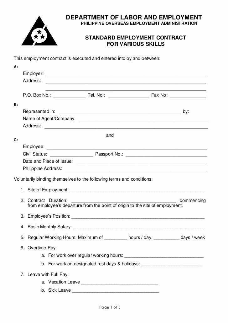 50 unique simple employment contract template free in 2020