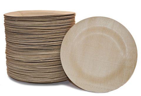 100 Bambu bamboo round plates