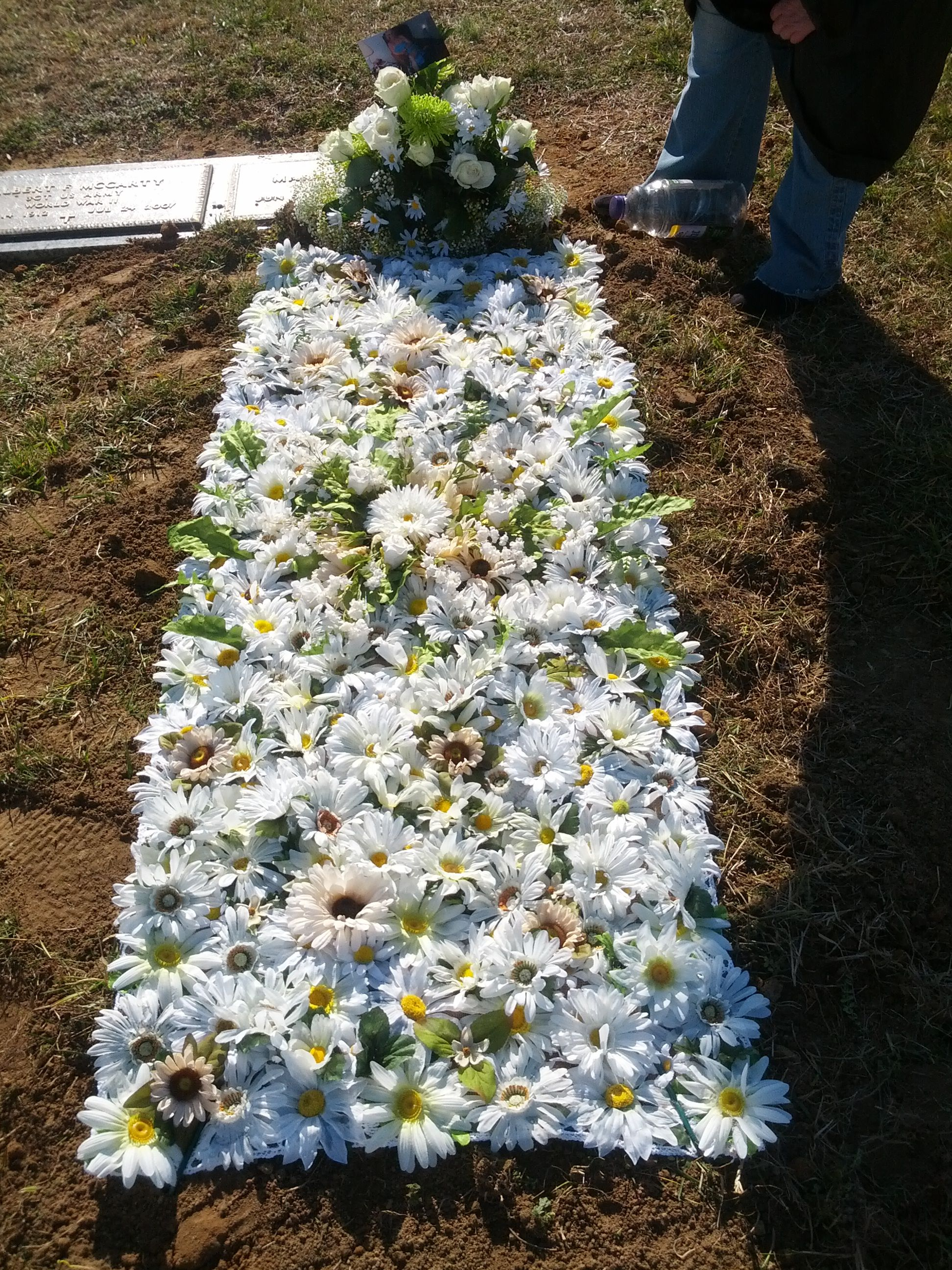 Pin By Debra Gallahan On Floral Blanket Grave Flowers Gravesite Decorations Cemetery Decorations