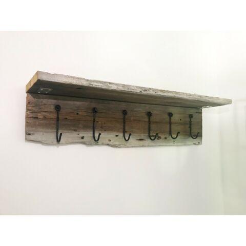 Custom Ontario barn board shelves and coat hook shelving ...