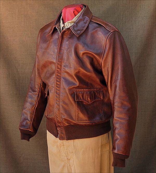 Good Wear Leather s Star Sportswear Type A-2 Jacket Front View ... 7bb0187ff9b2
