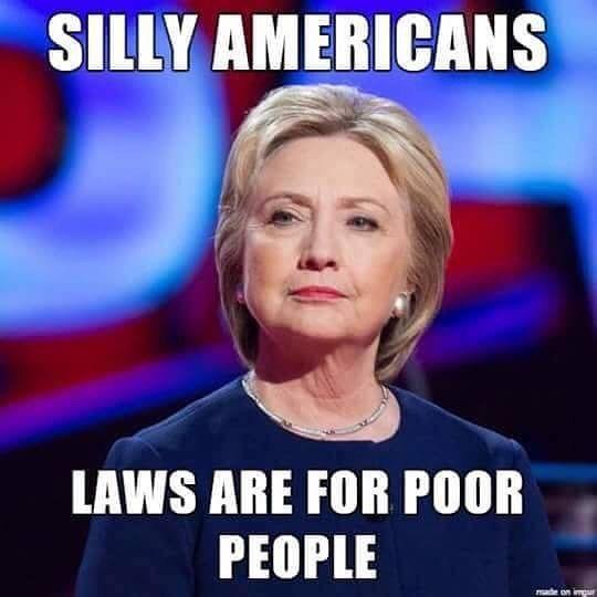 Crooked Hillary strikes again! #Clinton #FBI #emailscandal #RulesDontApplyToClintons #MadamCriminal #ImNOTWithHer
