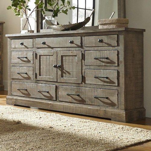 rustic bedroom dressers. Progressive Furniture Meadow Rustic Pine Door Dresser With 6 Drawers \u0026 2 Center Doors Bedroom Dressers U