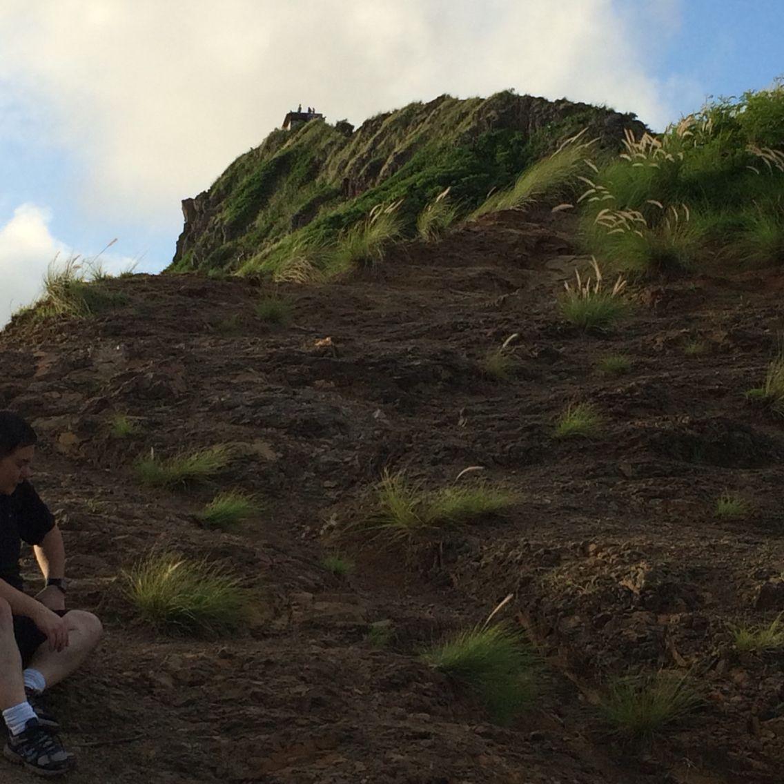 Pillbox, Lanikai, Oahu.   A long way up to the bunker.