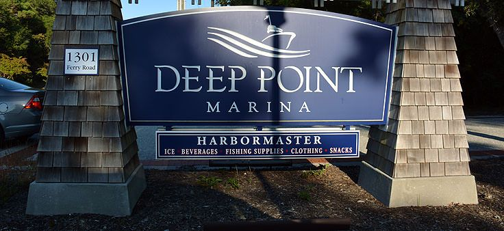 Deep Point Marina welcome sign