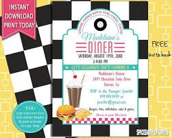 image result for 50 s diner menu templates free download sock hop