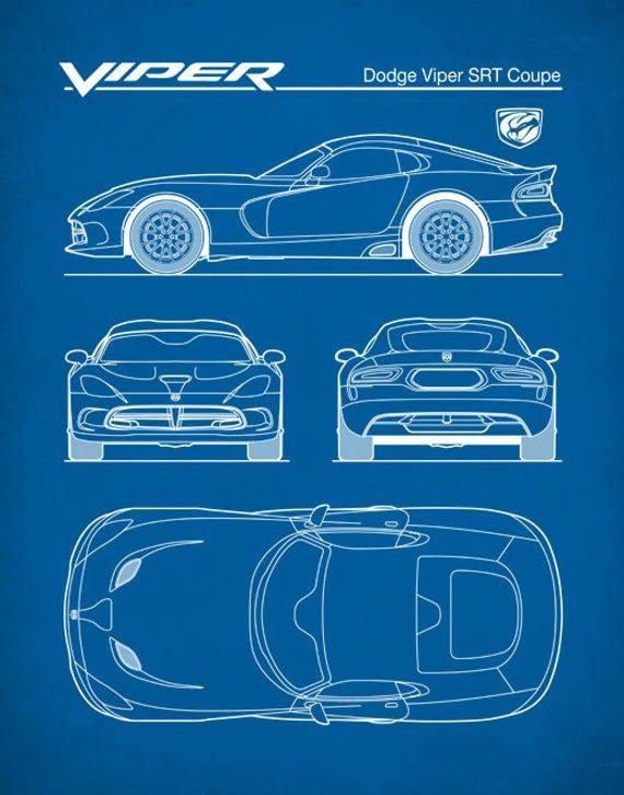 Dodge Viper Patent Print Auto Art Dodge Viper SRT Coupe | Etsy