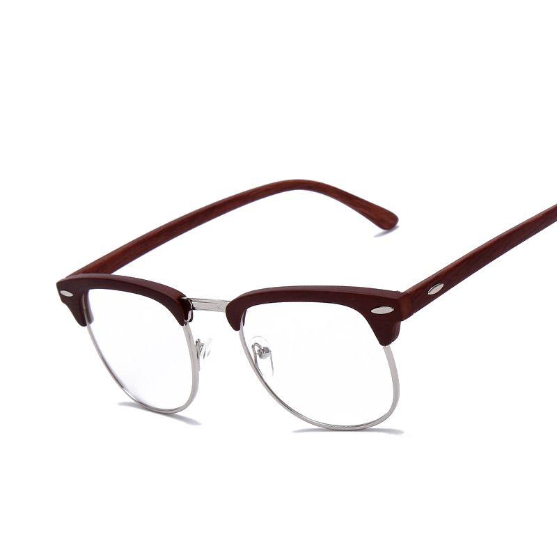 brand johnny depp wood glasses men women vintage optical eyeglasses glasses frame high quality oculos de - Wood Frames Glasses