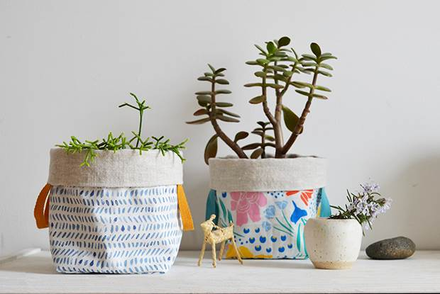 frankie exclusive diy little fabric planters en 2020