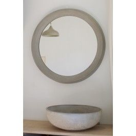 rohes wohnen spiegelrahmen aus beton spiegelrahmen. Black Bedroom Furniture Sets. Home Design Ideas