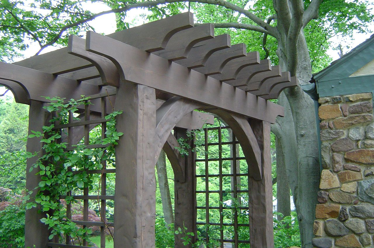 Entrance arbors rose arbor and bench alcove orchard for Timber garden arch designs