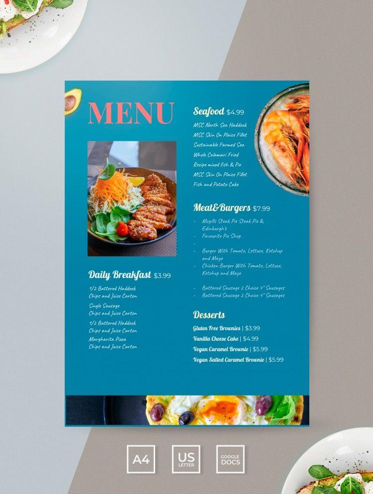 Free Restaurant Menu Template In Google Docs Thegoodoc Com Menu Restaurant Restaurant Menu Template Restaurant Menu Design