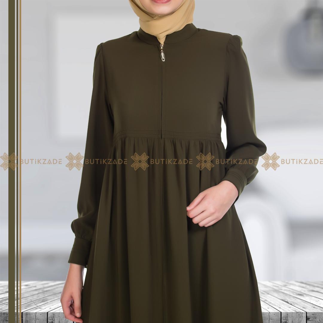 Belden Robali Ferace Haki Islami Giyim Moda Stilleri Giyim