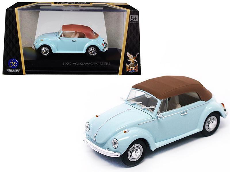 1972 Volkswagen Beetle Closed Top Light Blue 1 43 Diecast Model Car By Road Signature In 2021 Volkswagen Beetle Diecast Model Cars Car Model