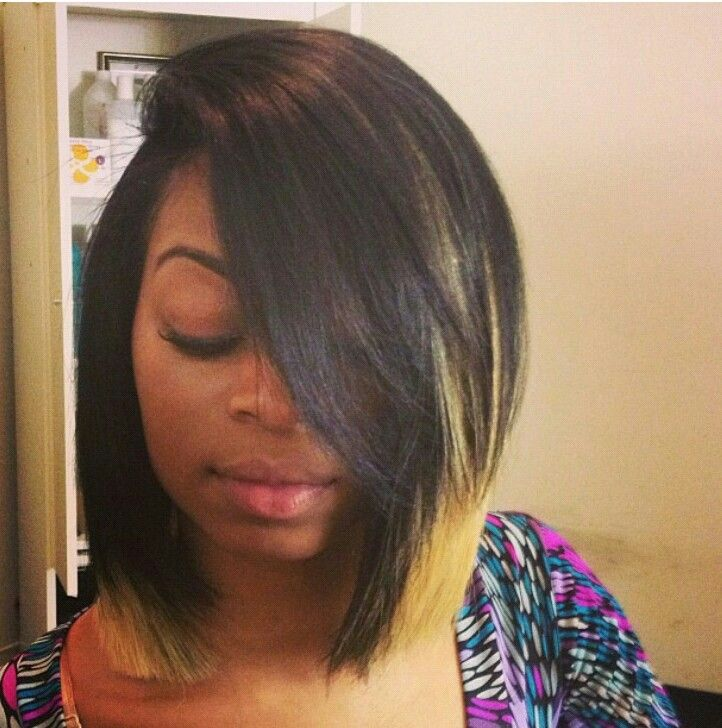 Long Blunt Bob I Love The Blonde Color Towards The Ends That S How I Want My Next Style To Be Once Hair Styles Weave Bob Hairstyles Quick Weave Hairstyles
