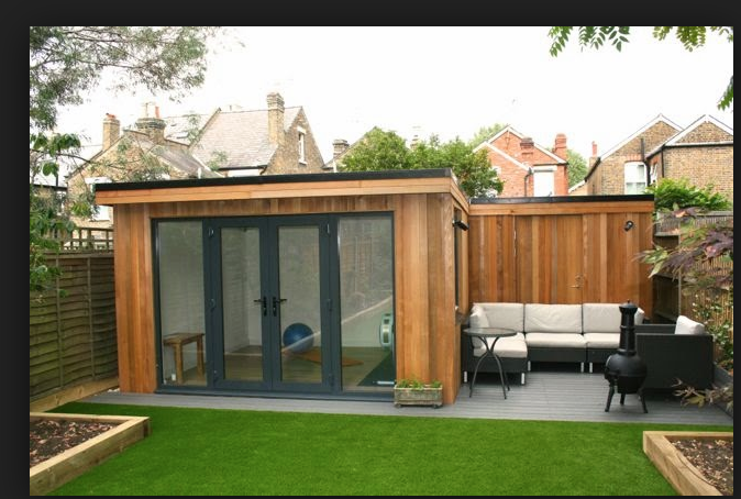 Exterior Studio 2 Who Else Wants Simple Step By Step Plans To Design And Build A Container Home From Scr Summer House Garden Garden Cabins Garden Seating Area
